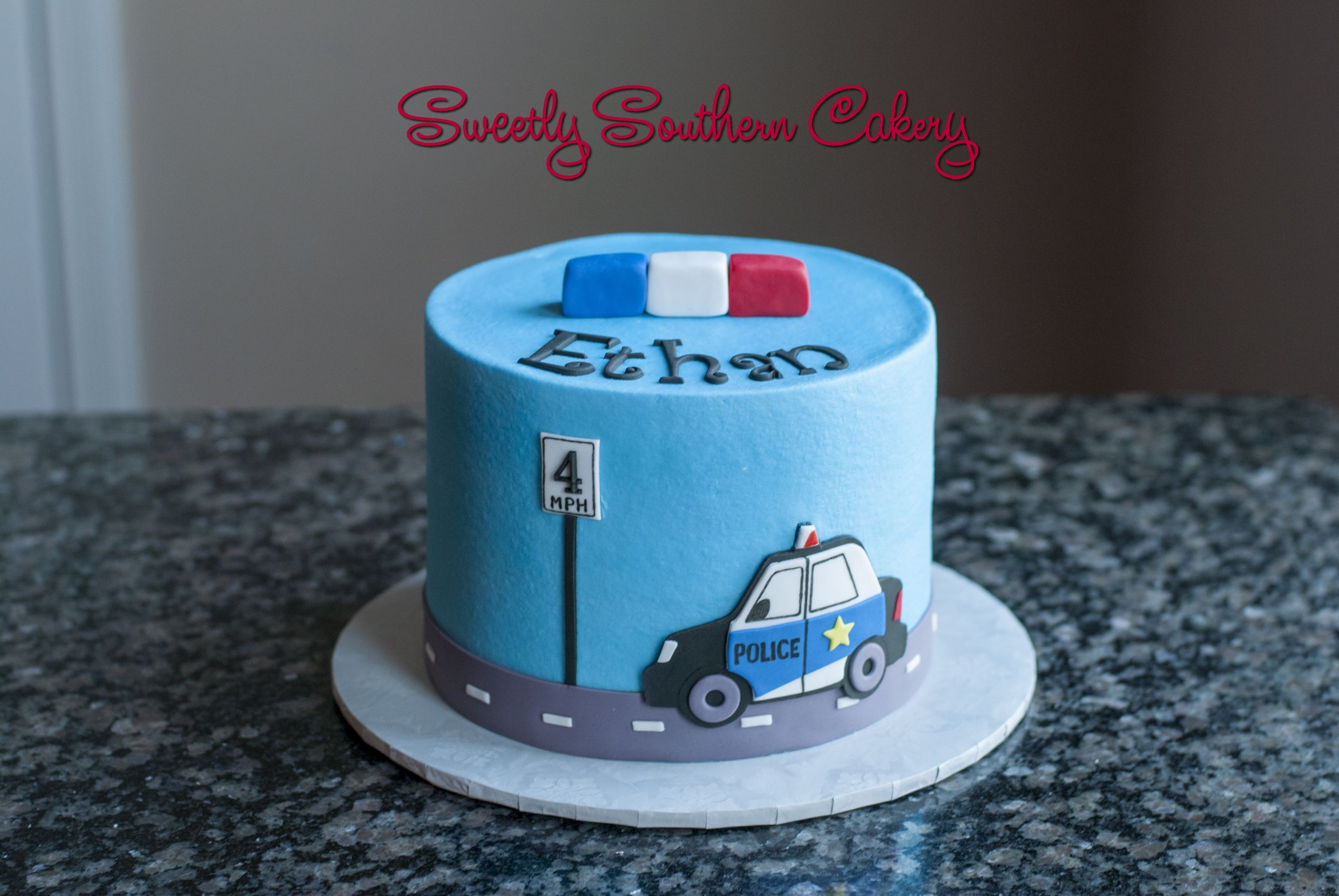 Police Cake Sweetly Southern Cakes 2016 In 2019 Police