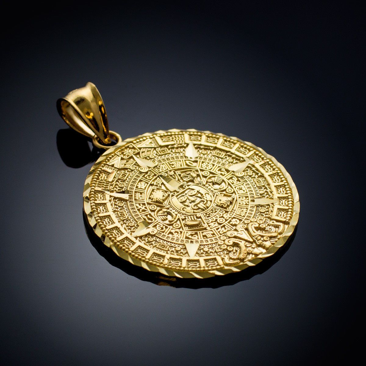 Necklaces and pendants 98491 gold aztec mayan mexico sun calendar necklaces and pendants 98491 gold aztec mayan mexico sun calendar pendant 3 sizes small aloadofball Image collections