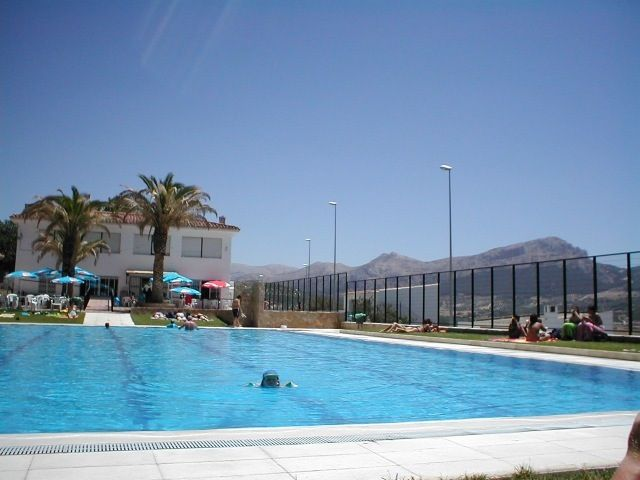 I love the swimming pool with fantastic views over the mountains!