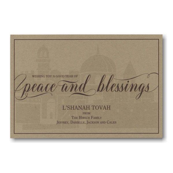 Spiritually Centered Jewish New Year Card in 2020 | New ...