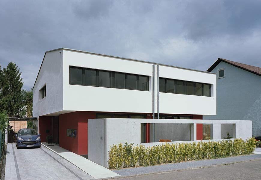 Neubau eines Doppelhauses mit Carport, Oberhausen (mit