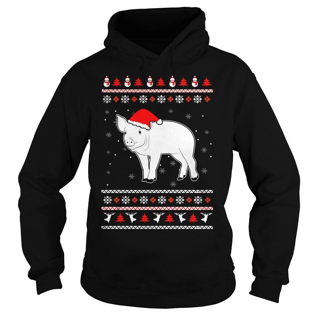 Pig Christmas, Order HERE ==> https://sunfrog.com/Pig-Christmas-Hoodie-Black.html?8273 #fantasticfarmanimal #farmlovers