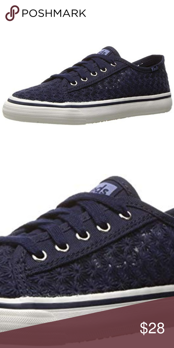 6889b4ba3e22 KEDS Girls Double Up Sneaker Navy Eyelet Lace Up 100% Textile upper  Synthetic sole Lace up closure for a secure fit Rubber outsole for traction  Imported ...