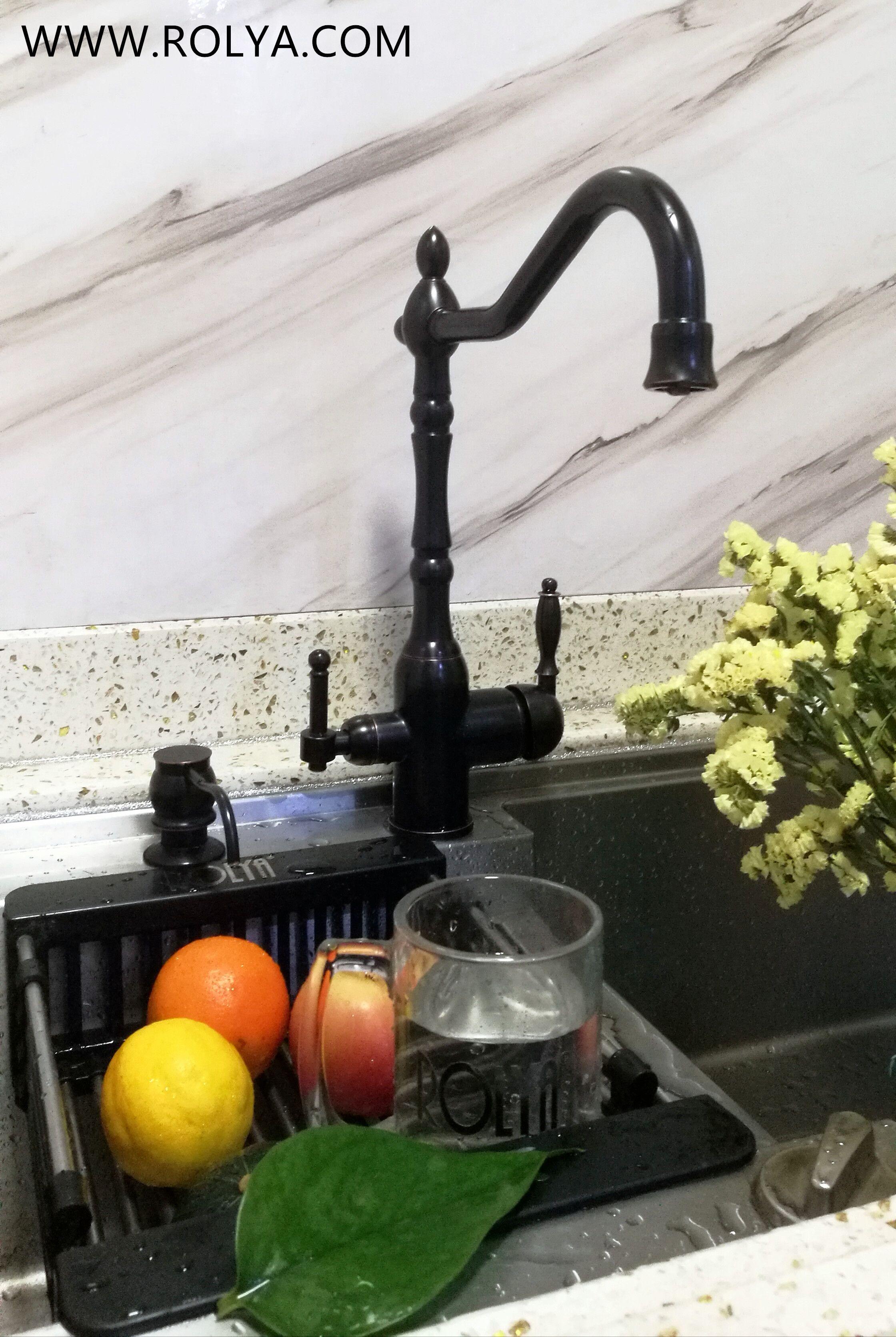 rolya vintage 3 way kitchen faucet oil
