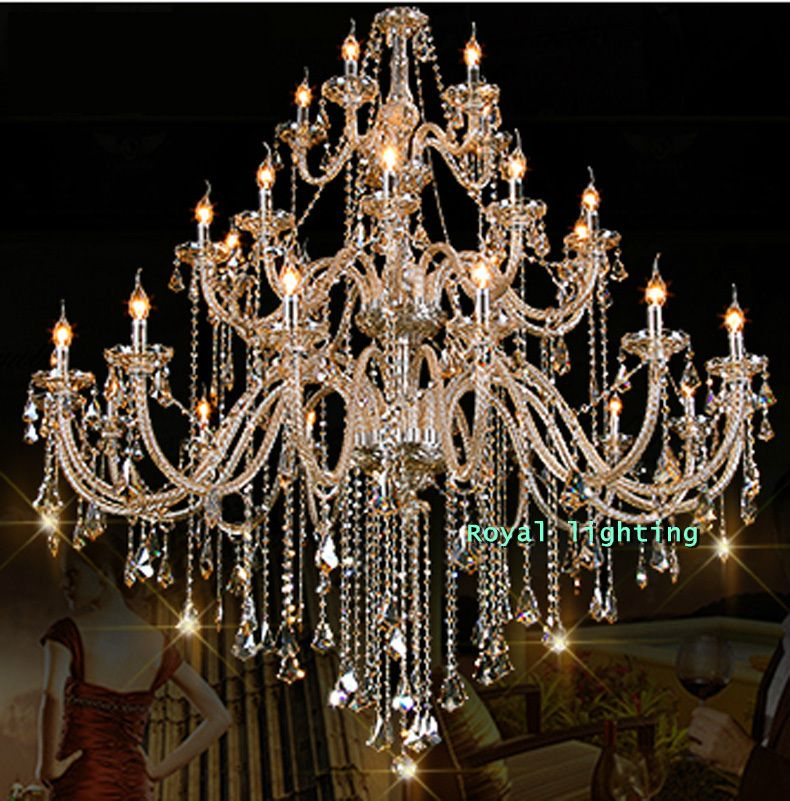 30 arms luxury chandelier villa hotel large crystal chandelier d150 30 arms luxury chandelier villa hotel large crystal chandelier d150h160cm big chandelier led lamps aloadofball Image collections