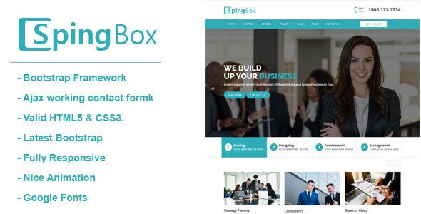 Spingbox professional business html template template business spingbox professional business html template template business and logos accmission Gallery
