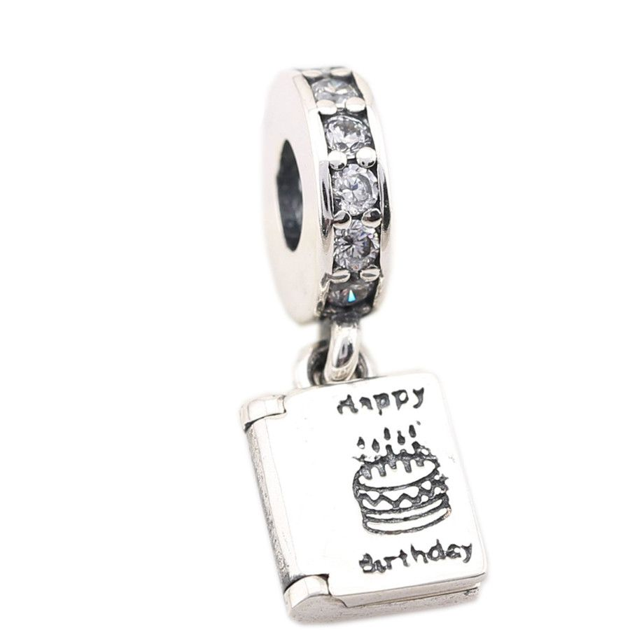 Click to buy ucuc sterling silver new birthday book charm fit