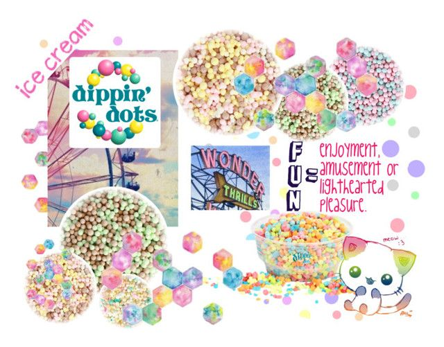 """Dip, Dip, Dippin' Dots."" by redgrell on Polyvore featuring interior, interiors, interior design, home, home decor, interior decorating, Cotton Candy, country, icecream and watercolor"