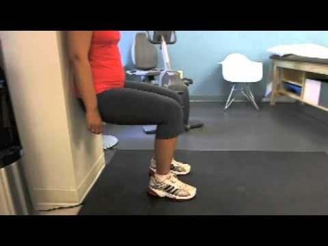 knee exercise 5 wall squat  youtube in 2020 with