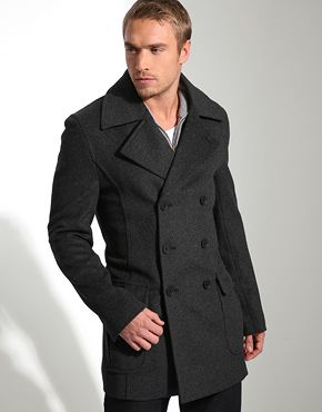 Single breasted peacoat