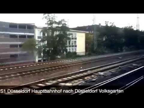 S1 Düsseldorf Hauptbahnhof nach Düsseldorf Volksgarten - YouTube
