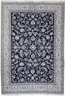 8x12 Wool Silk Persian Nain Rug Iran D Blue Authentic Persian Nain Rug From Iran 9 La This Rug Is Part Of The Invento Rugs Nain Rugs 9x12 Area Rugs 8 x 12 area rug