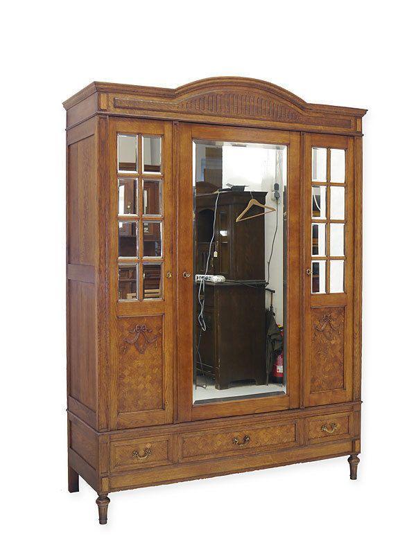 Kleiderschrank Schrank Dielenschrank Antik um 1920 aus Eiche massiv ...