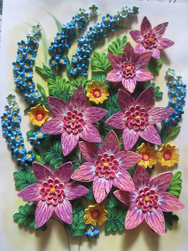 Book quilled flowers