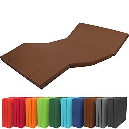 beautissu® - pouf pliable - matelas pliant - 195x120x7 cm