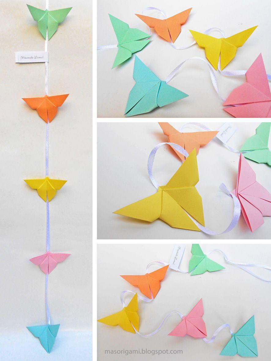 origami m243vil de mariposas de papel para colgar mis