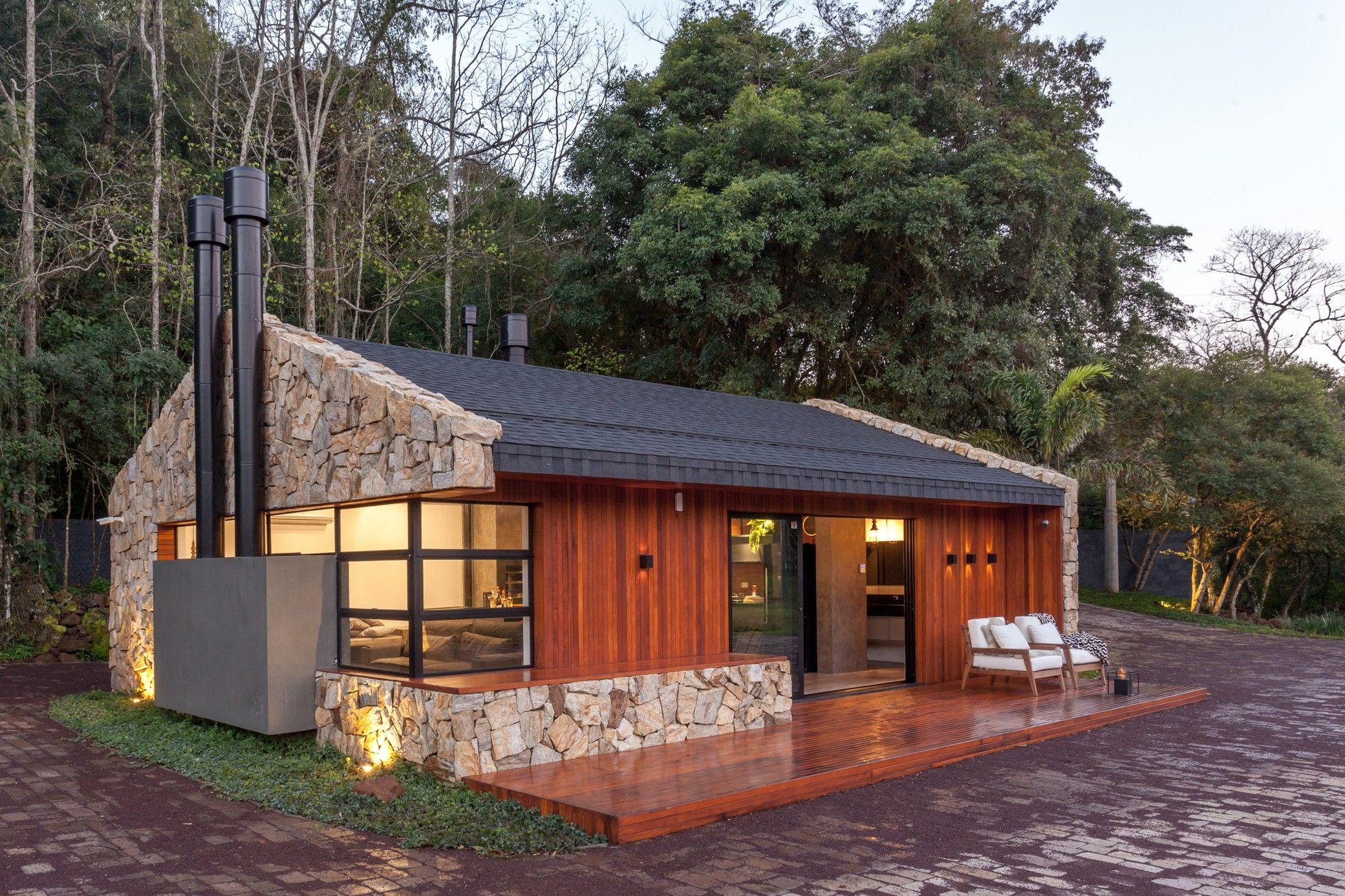 The Lake House Cadi Arquitetura Arch2o Com Rustic Lake Houses Lake Houses Exterior Lake House