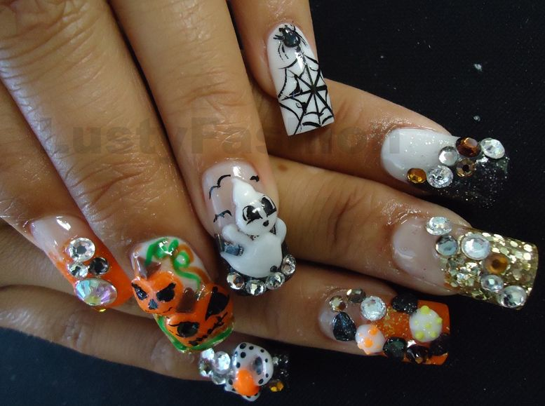 halloween 3d nail art | Posh Nail Art (Kawaii) | Pinterest | Make up ...