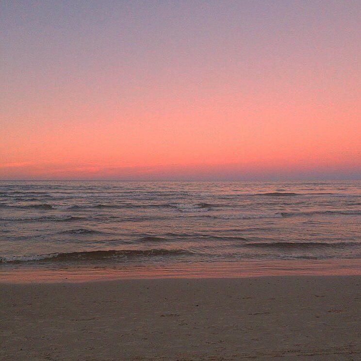 Beach Ocean Sunrise Sunset Sky Pink Pinksky Calm Beachvibes Sky Aesthetic Pretty Sky Sunset Sky