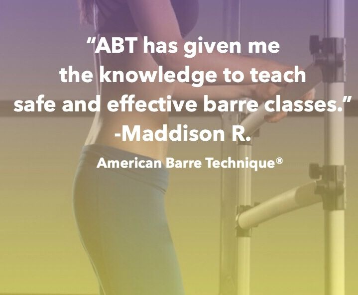 Get Barre Certified Online Today With American Barre Technique The