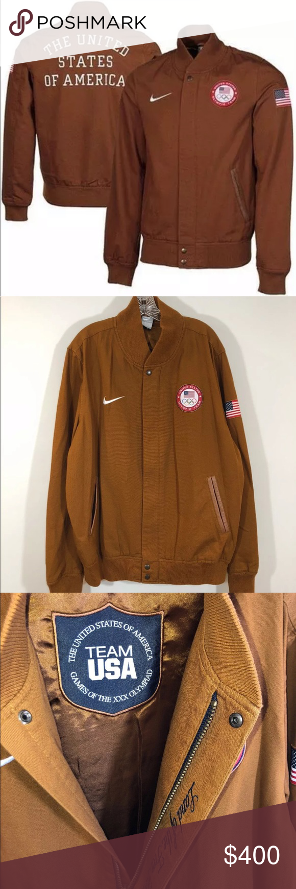 Nike 2012 London Usa Olympic Team Bomber Jacket This Listing Is For A Men S Nike United States 2012 Olympic Team Bomber Ja Clothes Design Bomber Jacket Jackets [ 1740 x 580 Pixel ]