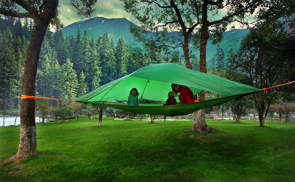 c6e0adca12d Camp in the Air  New Suspended Treehouse Tents and Hammocks Designed by  Tentsile
