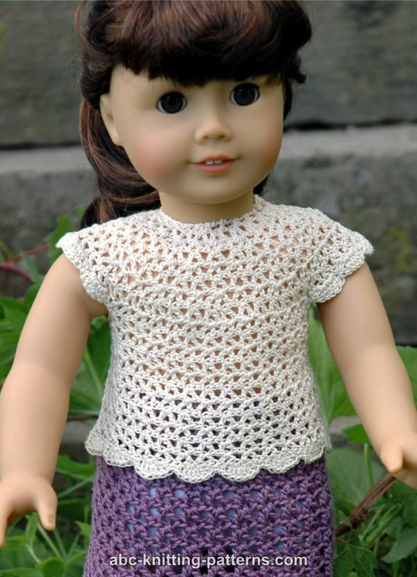 American Girl Doll Elegant Summer Blouse   doll clothes   Pinterest ...