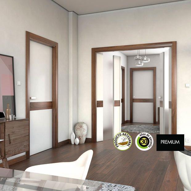 Resultado de imagen de combinar ventanas madera puertas for Marcos puertas interiores