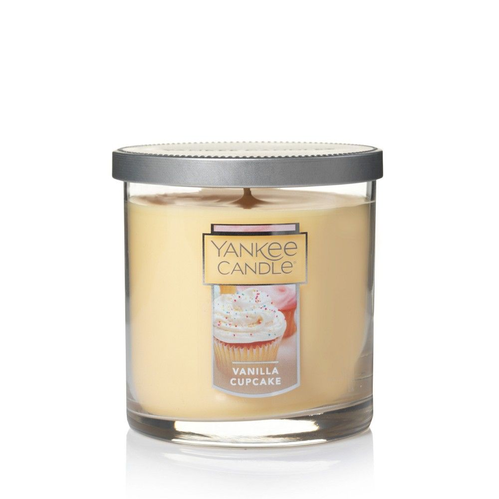 Yankee candle glass tumbler candle vanilla cupcake oz tumbler