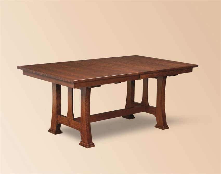 Amish Custer Mission Trestle Dining Table Trestle Dining Tables