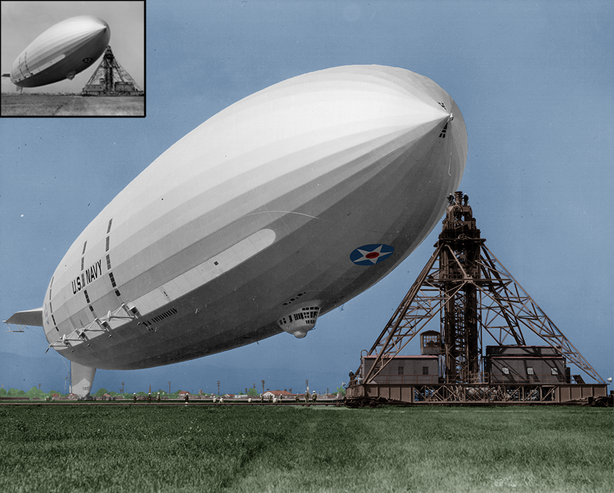 USS Akron (1931 1933) colorized by TheraxProd (https