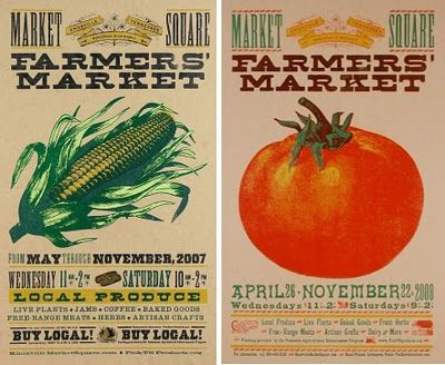 Posters for the Knoxville Tennessee Regional & Organic Farmers' Market