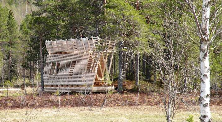 Bird watch tower, Rindal in Sør-Trøndelag. Architects: NTNU Students.