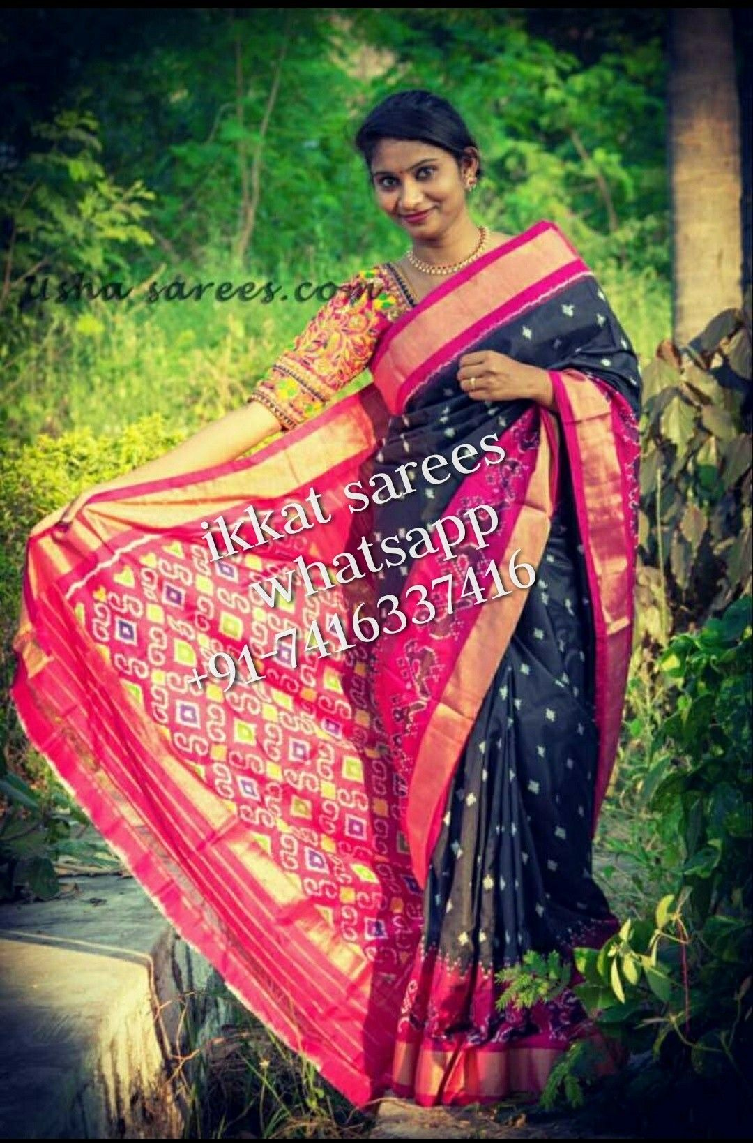 Pure silk saree 2018 pochampally ikkat pure silk sarees available in stock for more