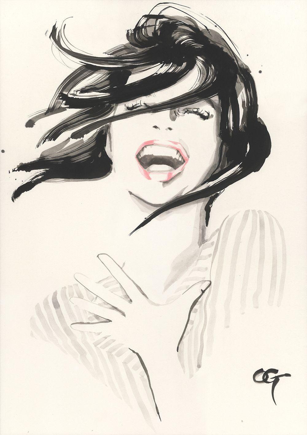 Ecards laugh illustration laugh illustration, woman