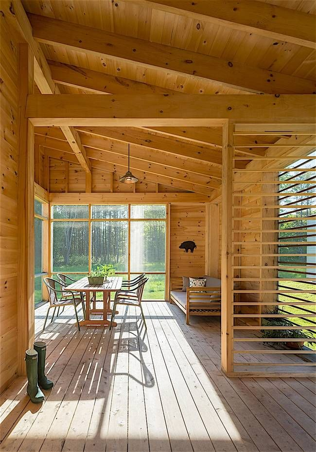 Cousins River Residence By Go Logic Is Smaller And Simpler Building A Wooden House Wooden House Design House Design