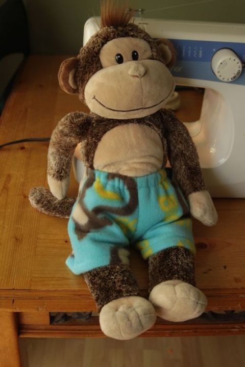 Easy + free sewing pattern for teddy bear pajamas | stuffies ...