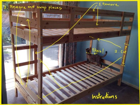 Mydal Bunk Bed To Single Beds Ikea, Can You Turn A Regular Bunk Bed Into Loft
