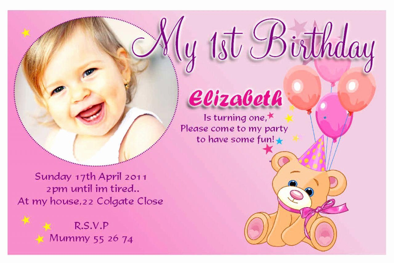1st Birthday Invitation Card Template Inspirational 20 Birthd In