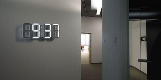 Digital LED Wall Clock By Vadim Kibardin Of Kibardindesign