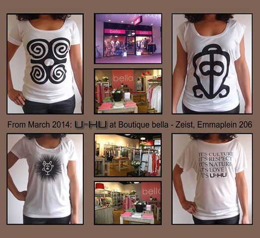 From March, these shirts are available at boutique bella, Zeist! Or order at  www.u-hu.com.
