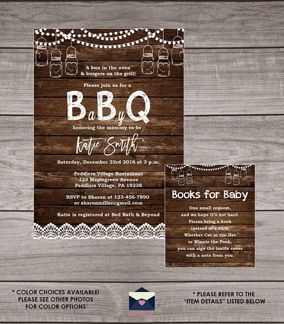 Bbq Baby Shower Invitation Backyard Babyq Baby Shower Invitations