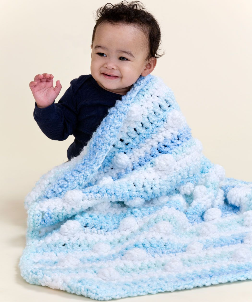 Cuddly Travel Blanket Free Crochet Pattern from Red Heart