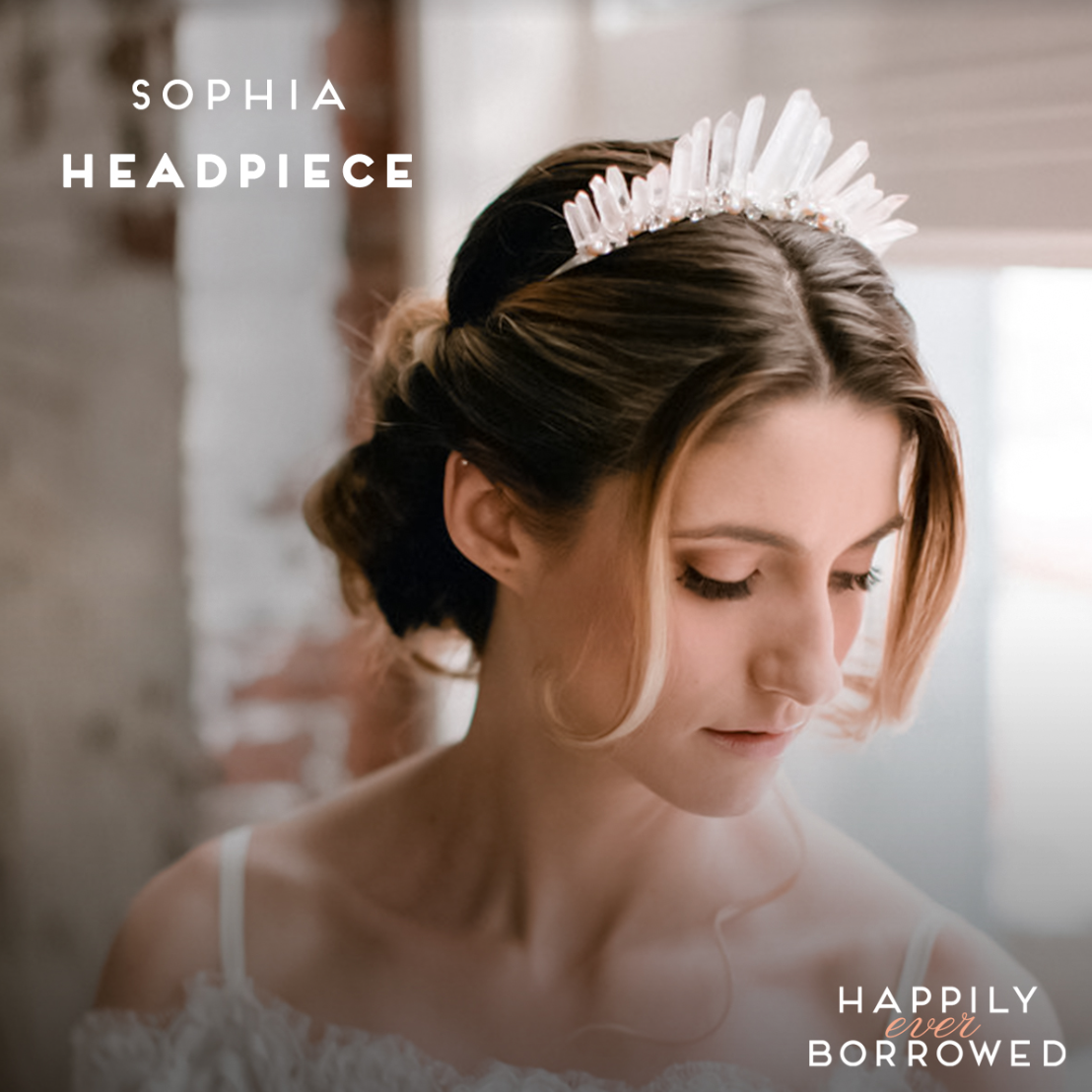 Crown yourself on your big day with this magnificent rose quartz and