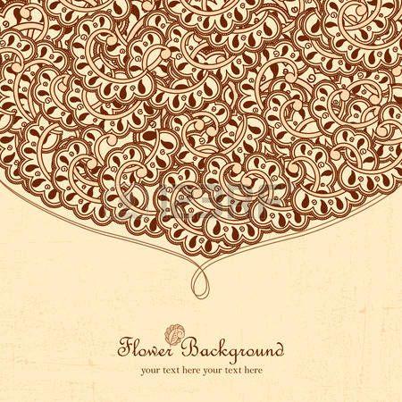 india ornamento: Mano marco doodle con lugar para el texto. Vector ...