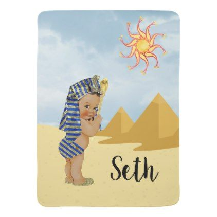 Egyptian Baby Boy Nursery Blanket Personalized   Zazzle.com #babyboyblankets