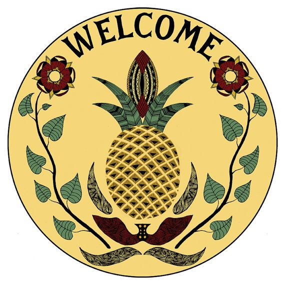 Pineapple Hex Sign Print by FennecDesignCo on Etsy, $7.00 ❤️❤️❤️❤️❤️❤️❤️❤️