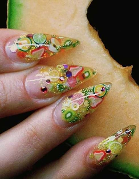 How To Apply To Nails Fimo Nail Stick Fruit Nail Art Fashion Nails Nail Art Designs