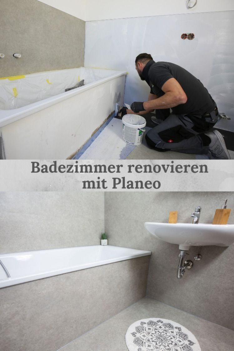 Bad Abdichten Vinyl An Wand Und Boden Verlegen In 2020 Bathroom Renovations Bathroom Improvements Diy Bathroom