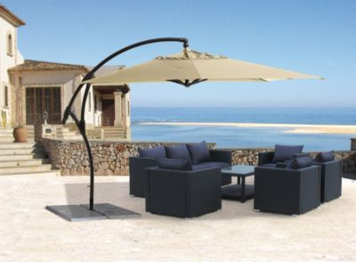 grasekamp ampelschirm premium mallorca 3 2x3 2m sand wellnessoase garten pinterest garten. Black Bedroom Furniture Sets. Home Design Ideas